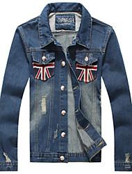 Men's Pure Long Sleeve Jacket , Cotton Casual