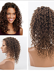Top Quality Human Virgin Hair 10''-26'' Kinky Curly Hair Lace Front Wigs For Women