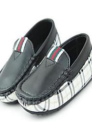 Chaussures bébé - Noir / Blanc - Décontracté - Similicuir - Mocassins