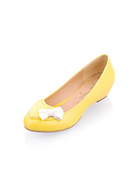 Women's Shoes Wedge Heel Wedges/Round Toe/Closed Toe Pumps/Heels Office & Career/Dress/Casual Yellow/Pink/White