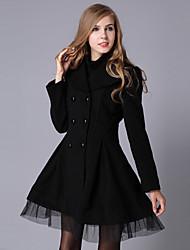 Women's Fashion Long Sleeve Trench Coat