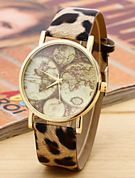 Unisex Map Watch Vintage Leather Watch,Lovers  Friend  Gift Idea Cool Watches Unique Watches