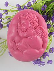 ángel dormido molde del jabón en forma de molde de silicona chocolate fondant molde mooncake, herramientas de decoración para hornear