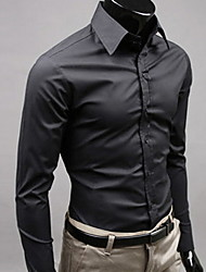 Men's Long Sleeve Shirt  Others Casual Formal Pure