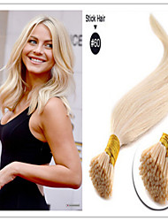 i-tip extension de cheveux 18-30inch 1g / brin couleur de la lumière 100g / pack i lève extension de cheveux