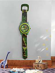 2015 New Children Bedding Room Decorative Camouflage Pocket Watch Wall Clock 10 Inch