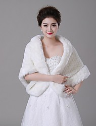 Wedding  Wraps Shawls Faux Fur Ivory