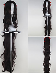 Women Synthetic Extra Long Curly Anime Cosplay Wig with Ponytail