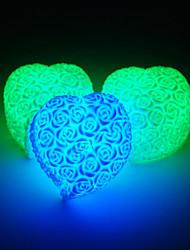 Christmas Light Colorful LED Roses Heart Valentine Wedding Decoration Night Light