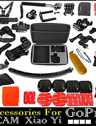 37pcs In 1 Accessoires GoPro Fixation / Smooth Frame / Avec Bretelles / Sacs / Vis / Suction / Adhésif / Accessoires Kit / Poignées Pour