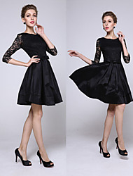 Women's Round Dresses , Lace Sexy/Beach/Casual/Cute/Party ¾ Sleeve Cathy