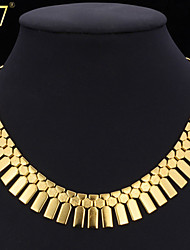U7® Women's New Trendy African Jewelry Platinum/18K Real Gold Plated Fashion Jewelry Geometric Ethiopian Collar Necklace