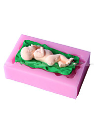 Sleeping Baby Shape Fondant Mold Cake Decoration Mold