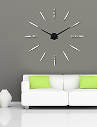 Uermerstar Large Wall Clocks DIY 3D Modern Style Long Hands Black Face Diameter 39 in