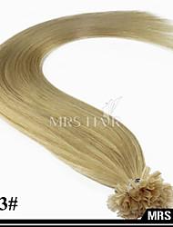 "20 ""613 # luz de color rubia caliente fusión italiano 80grams uñas queratina del pelo brasileño 0,8 g / pc 100pcs / pack"