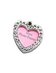 Cat / Dog Tag / ID Tag Rhinestone Hearts Silver Aluminum