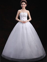 Ball Gown Wedding Dress Floor-length Sweetheart Tulle with Crystal / Flower / Sequin