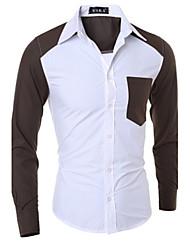 Men's Casual Shirts , Cotton Long Sleeve Casual YYZ
