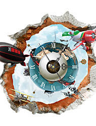 PAG®Modern Design 3D Effect Earth Pattern Clock Sticker 16.61*14.96 in