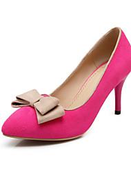 Scarpe Donna Finta pelle A stiletto A punta Scarpe col tacco Casual Nero/Blu/Viola/Rosso