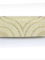 Women 's Polyester/Silk Flap Clutch/Evening Bag - Gold/Silver/Black