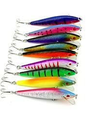 """9pcs pcs Fretin / leurres de pêche Fretin Others 8.5g g/5/16 Once mm/3-1/2"""" pouce,Plastique durPêche en mer / Pêche d'eau douce / Pêche"""