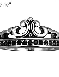 Lureme®Europestyle Retro Individuality Old Mayan Crown Of The King Titanium Steel Rings