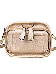 Women 's PU Sling Bag Shoulder Bag - Gold/Silver