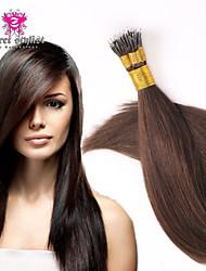 "18 ""-20"" extensiones de cabello nano humanos rectas 100g / pk 100% extensiones de cabello indio anillo nano pelo remy humano"