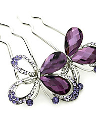 Korean Style Butterfly Alloy Hot Sale Hair Comb(3 color)(1Pc)