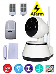PTZ 720P HD IP Camera P2P WIFI Combined Wireless Anti Theft Burglar Alarm System Security Home Alarme