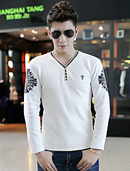 In the fall of the new men's cotton round neck long sleeve T-shirt man han edition cultivate one's morality