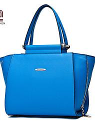 Handcee® Fashion and Popular Good Quality PU Plain Lady Tote Bag
