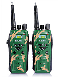 2 Times Children Army Green Radio Uhf Two-Way Radio