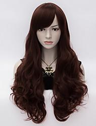 Charming Women Loita Long Curly Hair Cosplay Wig Heat Resist Synthetic Party hair Dark Brown