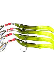 Hengjia 4pcs Trolling Laser Spoon Metal Fishing Lures  Spinner Baits 6.2g