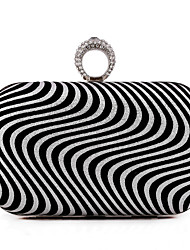 L.WEST®  Women's  Event/Party / Wedding / Evening Bag Pearl Corrugated Diamonds Delicate Handbag