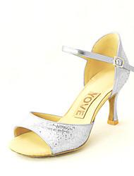 Customizable Women's Dance Shoes Leatherette Leatherette Latin / Salsa Sandals Customized Heel Beginner / Professional / Indoor / Practice