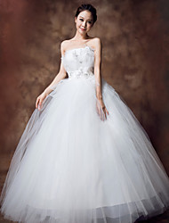 Ball Gown Ankle-length Wedding Dress - Strapless Organza