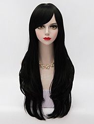Harajuku Lolita  Long Layered Curly Hair With Side Bang Black Heat-resistant Synthetic Vogue Party Wig