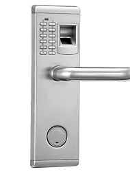 902 Biometric Fingerprint and Password Lock Security Door Lock for Home or Office Waterproof
