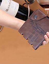 Men's Retro High Grade Antique Oblique Buckle Hole Hunter Cowhide Wallet