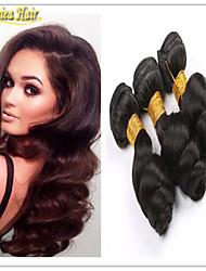3pcs / lot cabelo solto cabelo virgem peruano onda humano tece 3pcs por lote de atacado personalizadas mistos 8-32 polegadas