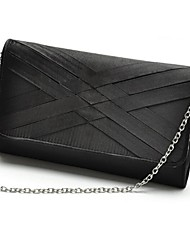 Women PU Casual Clutch / Evening Bag Gray / Black