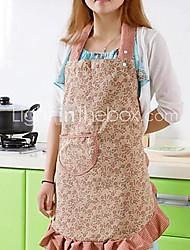 Anti-Fouling Textile Colorful Kitchen Aprons (Random Color 1PCS)