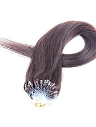 22inch 50g / pack 0.5g / hebras miro bucle / anillo extensiones de cabello remy recta del pelo humano del multi-colores disponibles