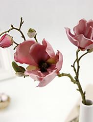 """20.1 """"h haut de gamme magnolia fleurs de soie de simulation 2 pcs"""