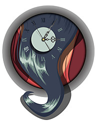 PAG®Modern Design 3D Effect Abstract Pattern Clock Sticker 14.96*18.42 in