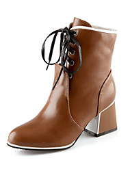 Women's Shoes Faux  Chunky Heel Pointed Toe/Closed Toe Boots
