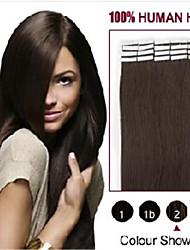 20pcs 2,5 g / pc / pack 50g / lot peau pu cheveux de trame extension de bande
